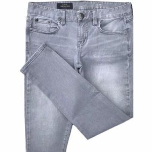 J. Crew Toothpick Skinny Ankle Gray Jeans